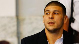 Aaron Hernandez in court in 2013.