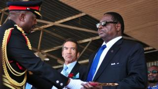 Gen Odillio and President Peter Mutharika