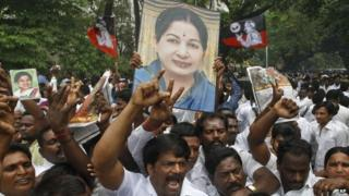 Jayaram Jayalalitha's supporters are celebrating her acquittal in a corruption case