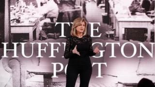 Co-founder and editor-in-chief of The Huffington Post Arianna Huffington speaks on stage during the AOL 2015 Newfront