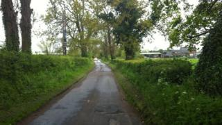A closed off road