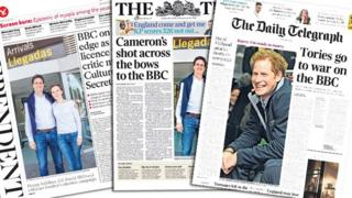 Tuesday's front pages