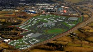 An impression of the proposed new urban village on the edge of Ballymena
