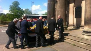 Colin Bloomfield funeral
