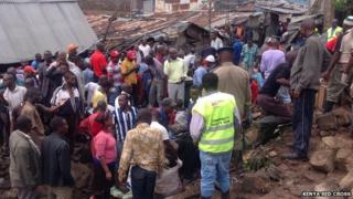 Kenya Red Cross at the scene