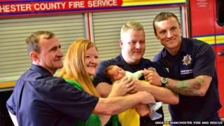 Firemen who saved baby in Leigh