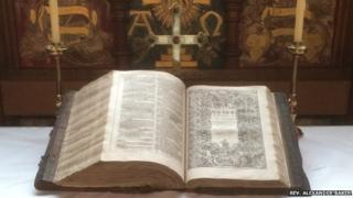 Rare bible found in Lancashire
