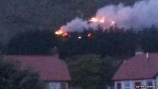 Gorse fire on the great Orme