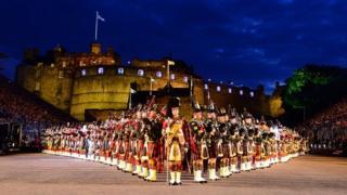 Massed Pipes, Royal Edinburgh Military Tattoo