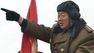 This photo taken on January 27, 2015 shows North Korean Defence Minister Hyon Yong-Chol directing a military exercise at an unspecified location in North Korea.