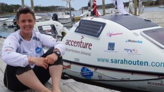Sarah Outen in Cape Cod