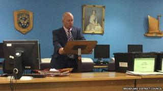 Returning officer Phil Kirby