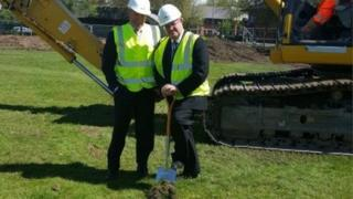 Dr Paul Sewell, managing director of Sewell Group, left, and Professor Calie Pistorius, vice-chancellor of the university, at the ground-breaking ceremony for new Hull student halls