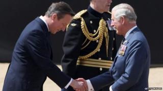 David Cameron and Prince Charles