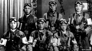 Archive picture of Kamikaze pilots