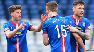 Inverness Caledonian Thistle players