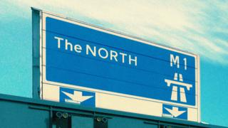 "Motorway sign says ""The North"""
