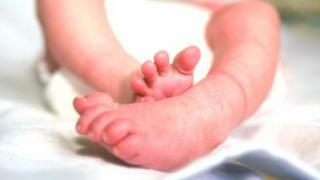 Newborn baby's feet