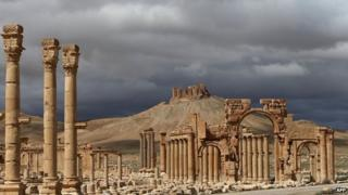 Ruins of Palmyra, Syria (file)