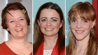 (l-r) Claire Fuller, Carys Bray. Emma Healey
