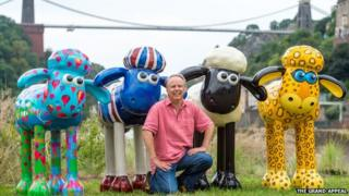 Nick Park with Shaun the Sheep