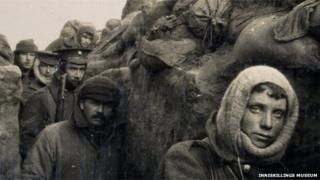 Inniskilling fusiliers in trenches