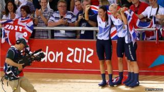TV camera at London 2012 Olympics