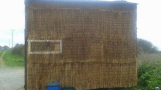 Homemade straw house