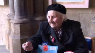 Olive Cooke pictured collecting money for the Royal British Legion