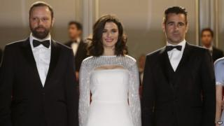 Yorgos Lanthimos, Rachel Weisz and Colin Farrell at the Cannes Film Festival 2015