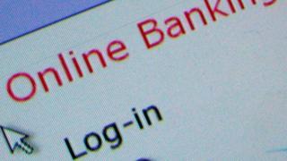 Online banking login page