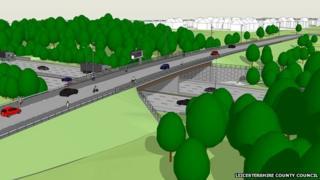 Artist's impression of M1 bridge