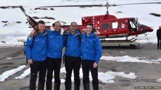 Greenland crossing team