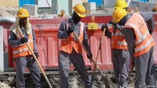 Labourers in Qatar
