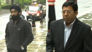 Harmohan Nangpal (l) and Vikram Singh