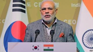 Mr Modi says his government is committed to improve business environment in India
