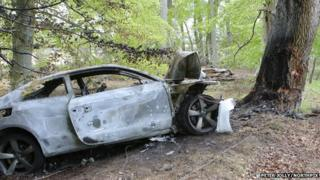 Car destroyed by fire near Evanton