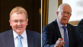 Scottish secretary David Mundell (left) and Bruce Crawford, convenor of the Scottish Parliament's devolution committee, met with others in London.