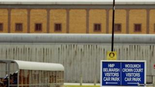 An exterior view of Belmarsh high- security prison