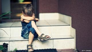 A depressed child