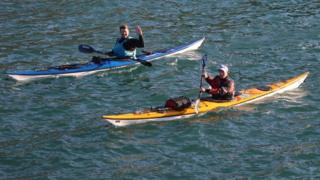 Record-breaking kayakers Keirron Tastagh and George Shaw