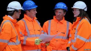 George Osborne on a recent visit to an engineering site in Bolton