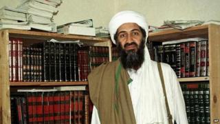Bin Laden in Afghanistan in 1998 file photo