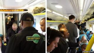 Commuters fined for standing in first class carriage on Southern train