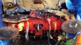 Damage on train vehicle