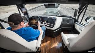 Inside Daimler's autonomous lorry