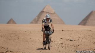 Mark Beaumont in Africa