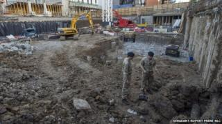 The unexploded bomb found at a building site near Wembley Stadium
