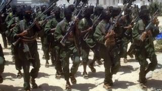 File photo of al-Shabab fighters, February 2011