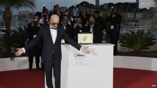 Director Jacques Audiard with the award, 24 May